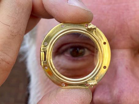 Miniature Brass Ship's Porthole