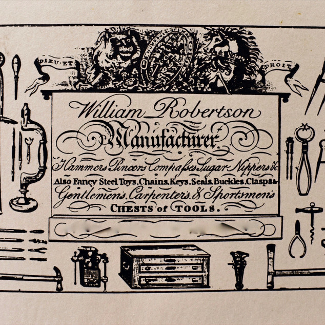 Trade Label for Gentleman's Tool Chest