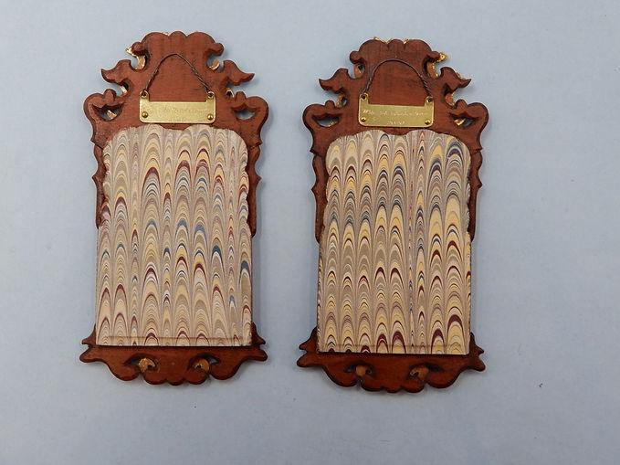 Pair of Danish Rococ Locksmith's Mirrors