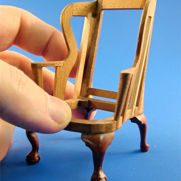 Wing Chair Frame, c. 1760, pear wood, popular, 1999