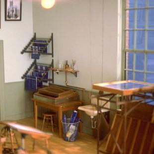 Architect's Classroom, blueprint developing equipment