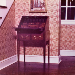Desk #1 in my mother's first dollhouse,
