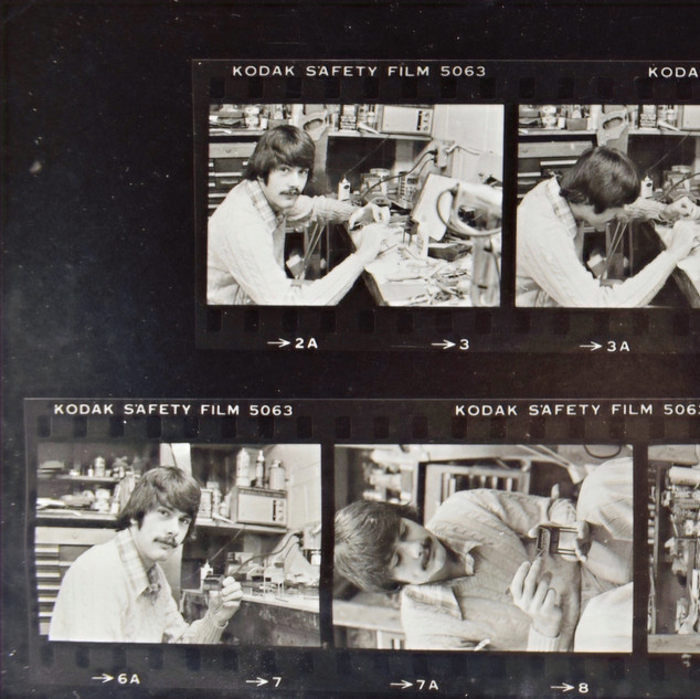 Contact Sheet from Forecast Magazine, 1977