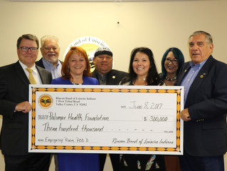 Rincon Band Donates $300,000 to Palomar Medical Center