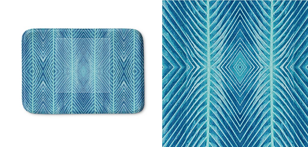Blue Palm Pattern
