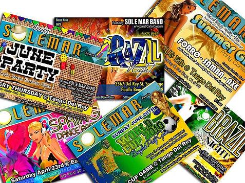 Brazilian Party in San Diego - Fliers - Design: Catia Keck