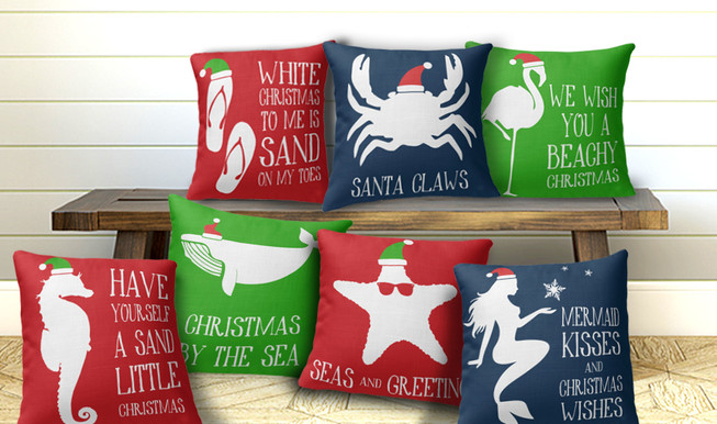 Tropical Christmas Pillows