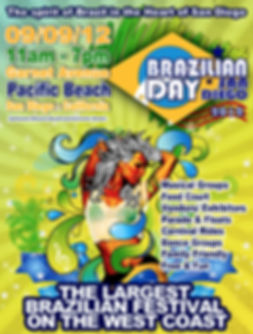 Brazilian Day Festival - Logo, Poster and Fliers - Design: Catia Keck