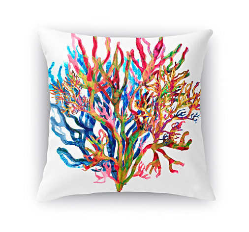 Fire Water Coral pillow