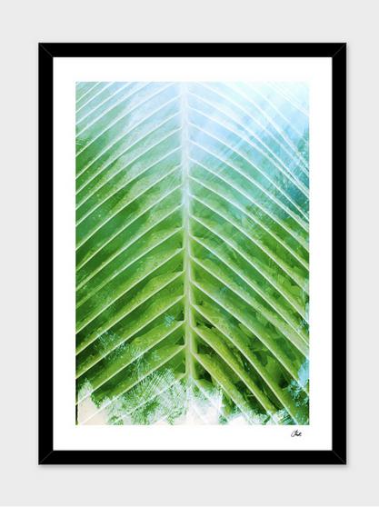 Green palm print