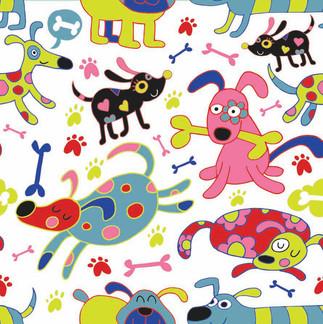 pattern_colorfulDogsFunny_White.jpg