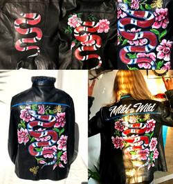 Snake Leather Jacket