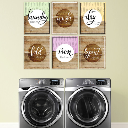 Mix Match Laundry Canvas Collection