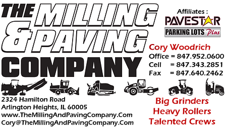 The Milling And Paving Company Cory Woodrich Chicago Illinois Asphalt Paving Grinding Parking Lot