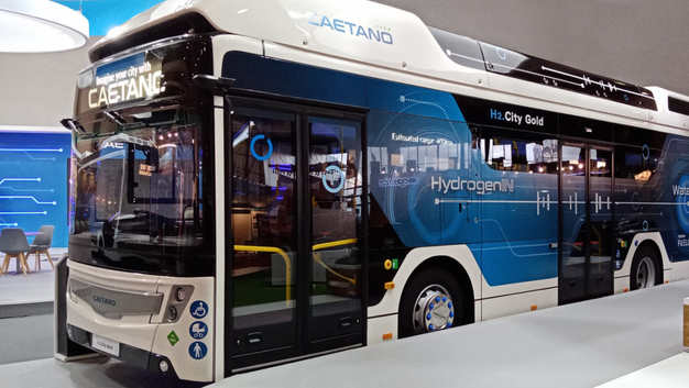 Caetanobus presents the new bus moved by Hydrogen