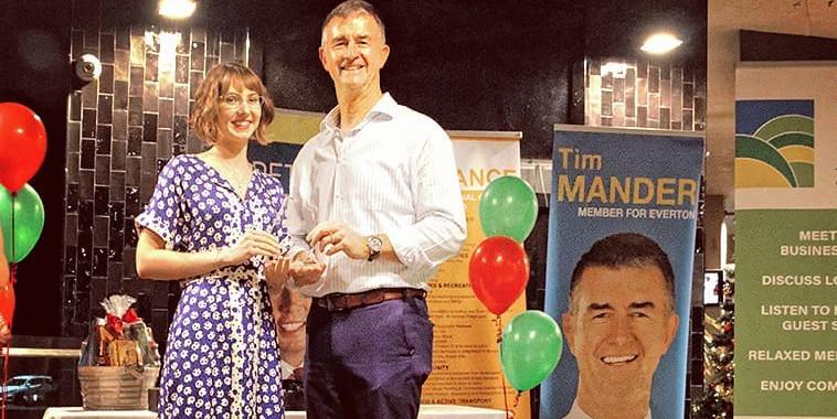 Eva Receiving an Award
