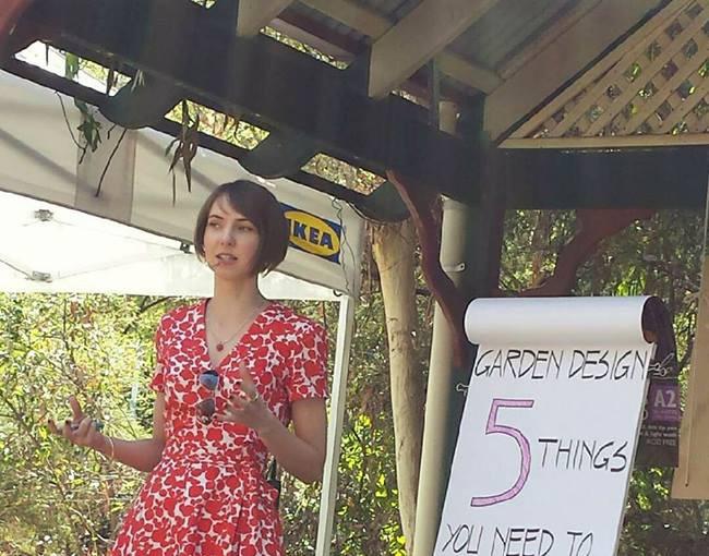Eva Giving a Gardening Talk