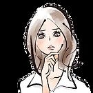 困った女性の顔のイラスト