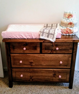 Custom dresser & changing table