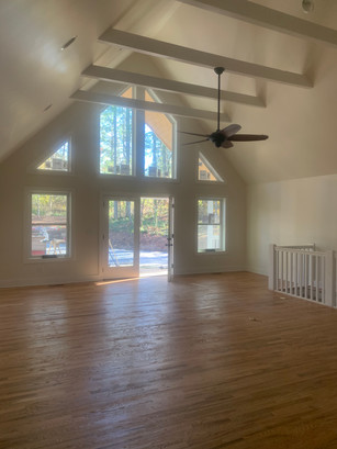 Living Room Remodel and added vaulted ceiling