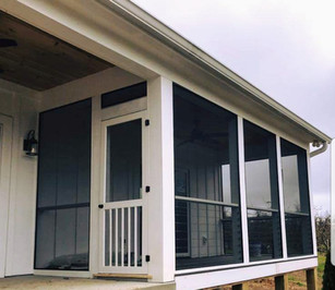 Screened-in porch for Todd Moss Construction
