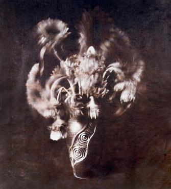 Sunflower  van dykebrown print on hanji 65*60cm 2008
