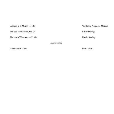 Mozart, Grieg, Kodaly, Liszt