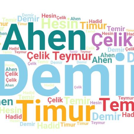 Ahen, hadid veya temir kelimeleri ne anlama gelir?  Dilimize nereden gelmişlerdir?