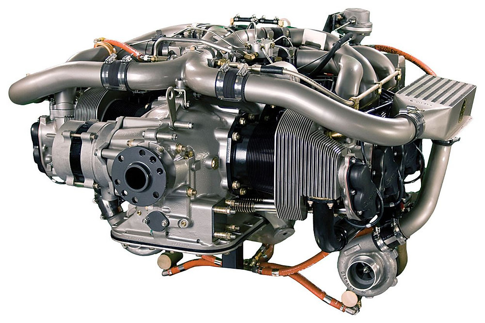 Hafif uçaklar için üretilmiş pistonlu motor.