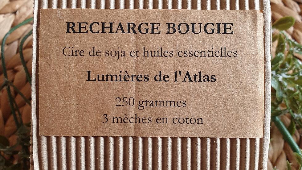 """Recharge """"LUMIÈRES DE L'ATLAS"""" Bougie Cire de Soja et huiles essentielles"""