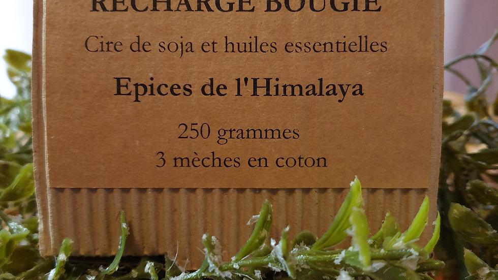 """RECHARGE """"Épices de l'Himalaya"""" Bougie Cire de Soja & Huiles essentielles"""