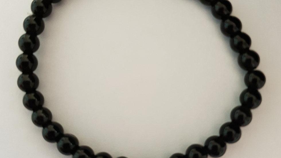 Bracelet boule OBSIDIENNE œil céleste