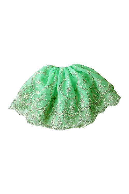 GREEN APPLE lace skirt