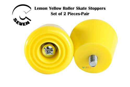 C 7 Seven Lemon Yellow Roller Skate Stoppers ซีเซเว่นเหลืองเลม่อนโทว์สต็อปสเก็ต