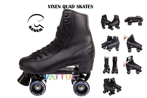 C7 Skates Chibi Vixen Quad Black ซี7 ชิบิวีเซนสเก็ตดำเด็กผู้ใหญ่