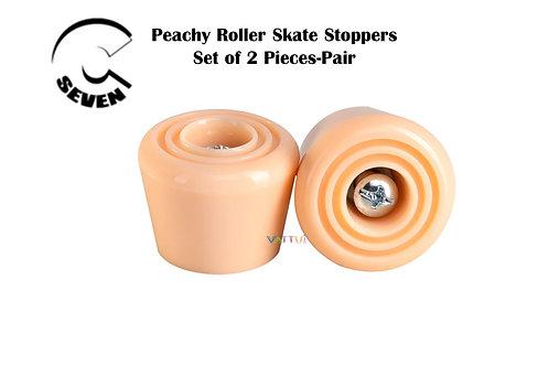 C7 Peachy Roller Skate Stoppers ซีเซเว่นเบรคโทวสต็อปสีพีชโรลเลอร์สเก็ต
