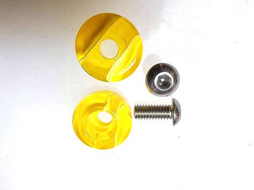Jammerz Toe Plug Bolt-on Toestop Acrylic Yellow เเจมเมริซ์โทวปลั๊กน็อตบนเหลือง