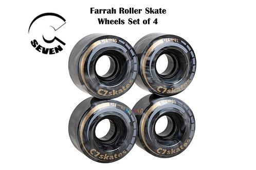 C 7 Farrah Roller Skate 4 Wheel Black Grey Marble ซี7โรลเลอร์สเก็ต4ล้อสีผสมดำเทา