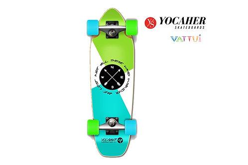 Yocaher Mini Cruiser Complete Wander Golem โยคาเฮอมินิครูสเซอร์เขียวฟ้า
