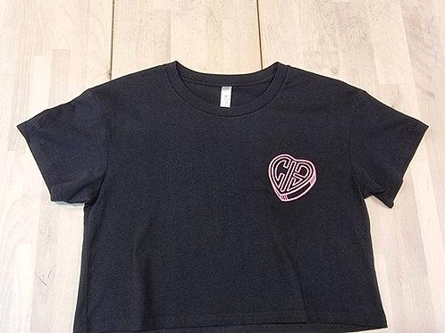 CIB Backflip Blood & Thunder T-shirt Black-Pink ซีไอบีบลัดทันเดอร์เสื้อยืดหัวใจ