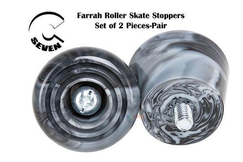 C7 Farrah Roller Skate Stoppers Grey Black Marble ซี7สเก็ตเบรคลายหินอ่อนดำเทา