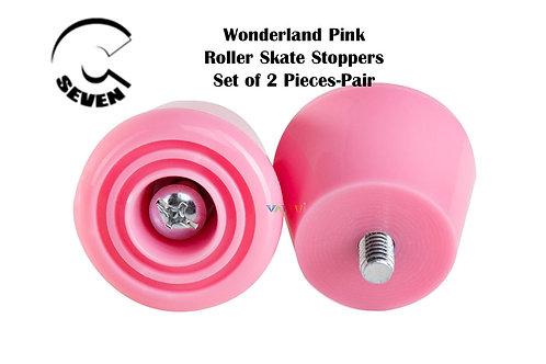 C7 Wonderland Pink Roller Skate Stoppers ซีเซเว่นเบรคโทวสต็อปชมพูโรลเลอร์สเก็ต
