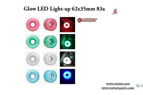 BONT Wheels Glow LED Light up 62x35mm 83a ล้อมีไฟเเอลอีดีบอนท์ควอตโรลเลอร์สเก็ต