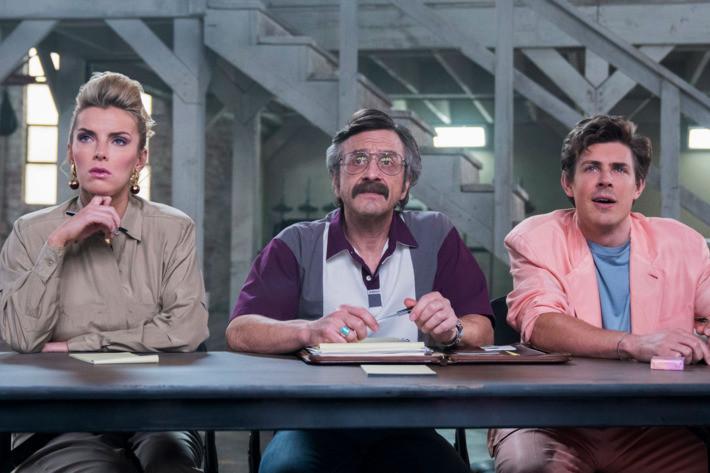 Debbie, Sam and Bash planning an episode