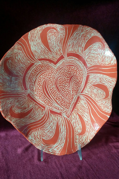 CARVED HEART PLATE