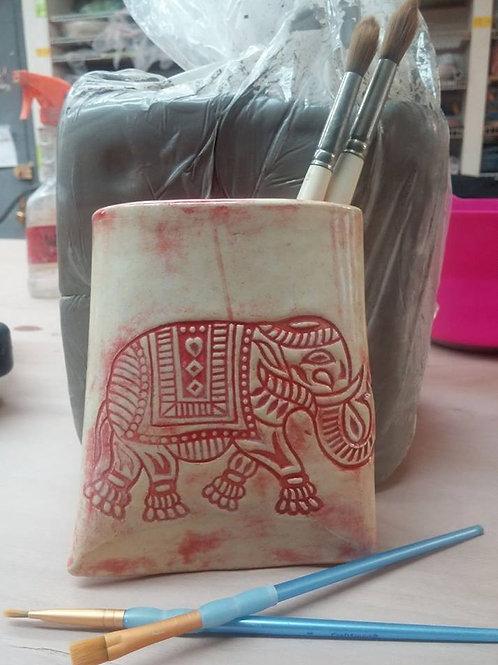 Elephant Wall Vase