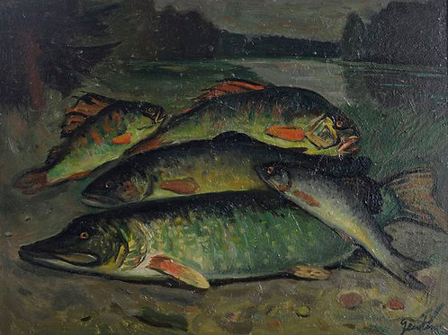 Nature morte – la pêche du jour