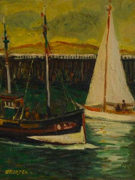 Départ du Port Bateau de pèche et voilier