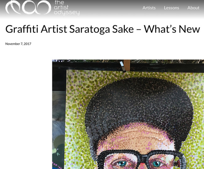 The Artist Odyssey sits down with SAKE to see whats new. (click on photo to read full article)