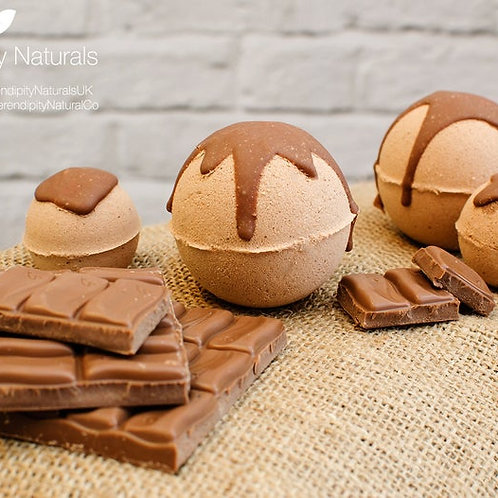 Chocolate Bath Bombs Luxury Collection enriched with Organic oils and butters